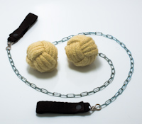 Medium-sized monkeyfist poi